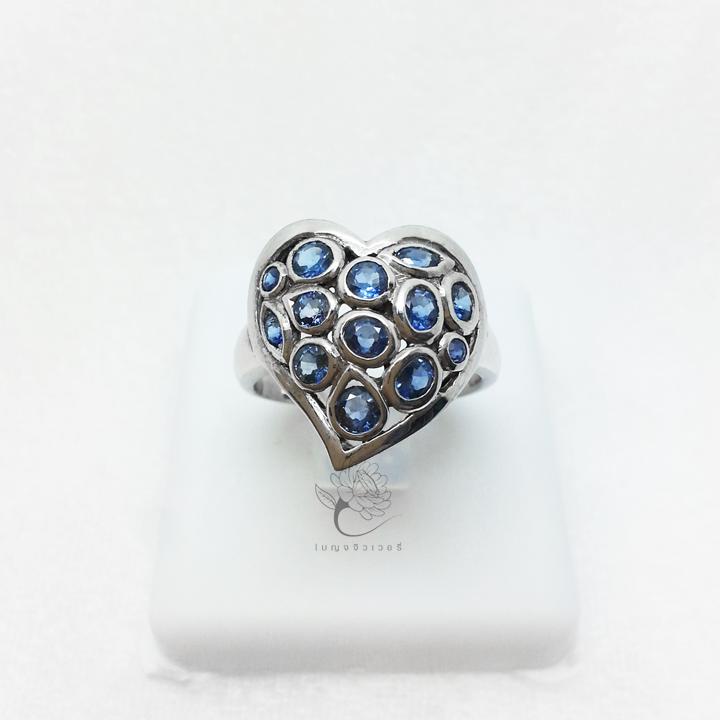 แหวนเงิน งานแฮนด์เมด รูปหัวใจ
