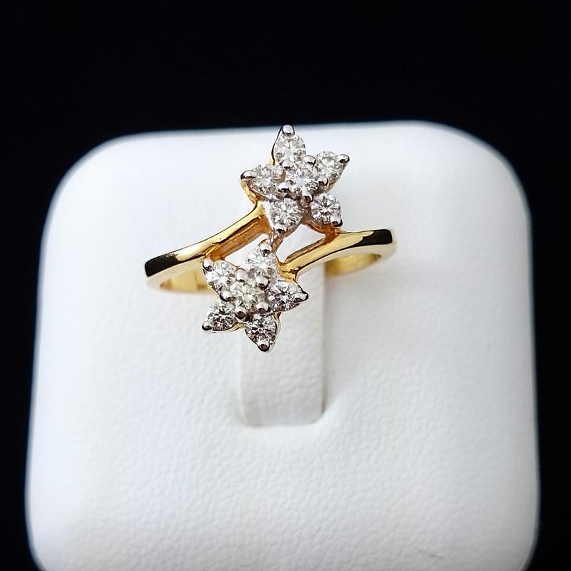 แหวนทอง เพชรประดับดาว